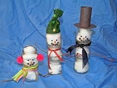 baby food jar snowmen!