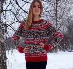 Fair Isle sweater Women's sweater Multicolour sweater Hand made sweater Cozy sweater Made to order