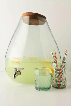 Bubbled Glass Dispenser from Anthroplogie. {Via Remodelista}