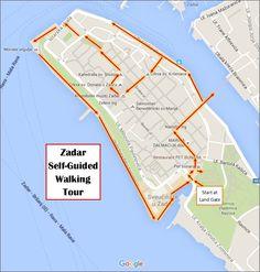 Zadar Self Guided Walking Tour Map