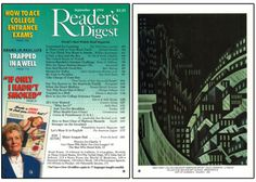 """Reader's Digest front and back cover, September 1994  Art director:Richard J. Berenson Back cover art: """"New York,"""" oil on canvas byLouis Lozowick  Louis Lozowick(1892-1973) was an Americanpainterandprintmaker. He was born in Russian andcame to the United States in 1906.He is known as an Art Deco artist, and produced streamline, urban-inspired monochromatic lithographs.   richard j. berenson 