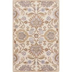 Surya Caesar Ivory and Mocha Rectangular: 10 Ft x 14 Ft Rug - CAE1109-1014