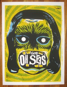 Lonny Unitus, Thee Oh Sees poster Rock Posters, Band Posters, Music Posters, Concert Flyer, Concert Posters, Illustration Photo, Rock Album Covers, Rock Cover, We Will Rock You