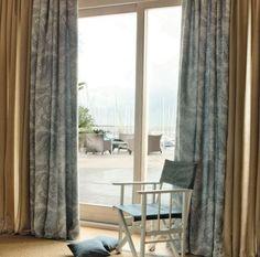 boubles rideaux occultants gris et paisley beige: Harmony par Decortex