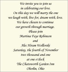 Wedding invitation wording for a monetary gift Wedding