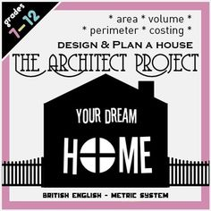 A real-world math project wherein students are architects designing their own home, working with measurements, conversion, area, perimeter, volume and money. This 20 page booklet is rich with activities and scaffolded pages for calculations, and focuses on both literacy and numeracy. This version uses the metric system and British English.