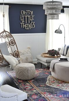 Classic Yorktown - Teen Hangout Room With A Stikwood Accent Wall - Dear Lillie Studio