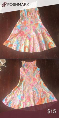 Chaps cotton summer dress. Size 8p. Chaps cotton summer dress. Size 8p. Lined. Zipper closure. (10) Chaps Dresses