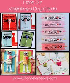 DIY Valentine's Day Cards - Super cute ideas! Like the glow bracelet idea.