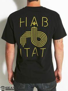 Habitat Lo Fi Tee Black MD