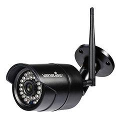 Wansview WiFi Caméra ip Extérieur de Sécurité, IP66 Etanche,Vision Nocturne 1080P/720P W3—Noir: 720P HD : Clarté jusqu'à 1280 * 720 vidéo à…