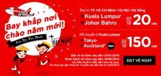Đón năm mới khắp mọi nơi cùng loạt vé SIÊU RẺ của Air Asia