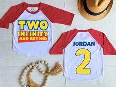 2nd Birthday Party For Boys, Second Birthday Ideas, 2nd Birthday Shirt, Twin Birthday, Toy Story Birthday, Buzz Lightyear, Toy Story Shirt, Toy Story Party, Disney