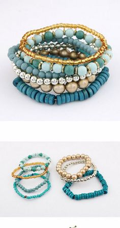 Personalized Multilayer Beads Bracelets   $4.68