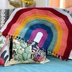 Rainbow Drop Blanket pattern by Melu Crochet Baby Afghan   Etsy