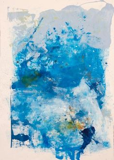 Become Ocean I --large blue abstract painting. Water series.