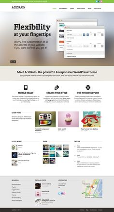web-design website site theme flexibility acid rain green simple minimum | source: http://themeforest.net/item/acidrain/2950376?ref=creattica