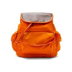 Hadaki Market Pack Backpacks ($60) ❤ liked on Polyvore featuring bags, backpacks, russet, nylon crossbody, shoulder strap backpack, orange crossbody bag, backpack crossbody and nylon backpack