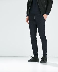 pantalon toile confort homme zara