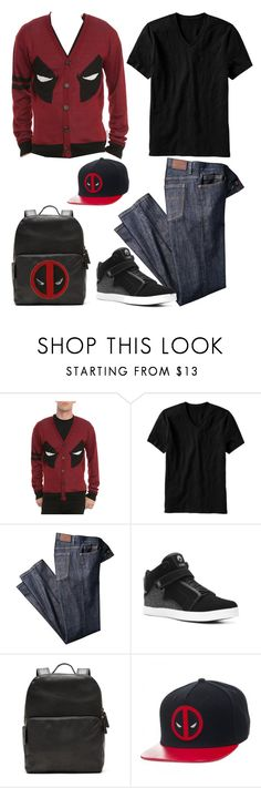 """Deadpool"" by lghockey ❤ liked on Polyvore featuring Old Navy, Osiris, Banana Republic, men's fashion and menswear"