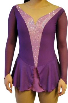 www.sk8gr8designs.com Plum and orchid figure skating dress