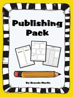 Publishing Pack from Brenda Martin on TeachersNotebook.com -  (11 pages)
