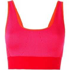 Adidas By Stella Mccartney Ribbed Classic Sports Bra (515 MAD) ❤ liked on Polyvore featuring activewear, sports bras, adidas, pink sports bra, adidas sportswear, adidas activewear and adidas sports bra