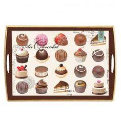 Michel Design Works - Au Chocolat Decoupage Wooden Tray - Au Chocolat - Design Collections