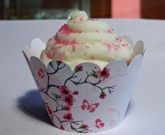 Cherry Blossom Cupcake Wrappers, Cherry Blossom Baby Shower