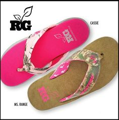 #New Realtree Girl Camo Flip Flops #Realtreegirl #camoshoes