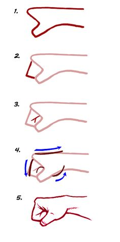 How to draw a fist! this helps a lot