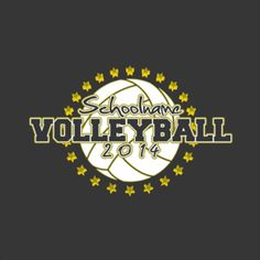 volleyball t shirt design idea