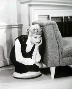 "Lucille Ball - waiting to start a scene in Season 3, ""Madame X"""