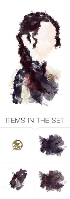 """District 12: Katniss Everdeen - Hannah"" by perfect-painting ❤ liked on Polyvore featuring art, Hungergames, polypainting and hannahspaintings"
