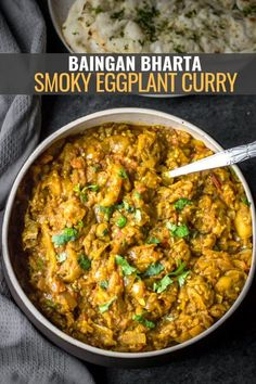 Learn how to roast eggplants (baingan) in the oven or stove top to make authentic Indian-style baingan bharta - a smoky-flavored, fire-roasted eggplant curry. vegetarianrecipes # Healthy Recipes for kids Baingan bharta - fire-roasted eggplant curry Healthy Recipes, Curry Recipes, Cooking Recipes, Oven Cooking, Cooking Utensils, Kitchen Recipes, Easy Cooking, Healthy Tips, Healthy Vegetarian Recipes