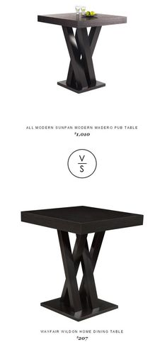 @allmodern  Sunpan Modern Madero Pub Table $1,010 Vs @wayfair  Wildon Home Dining Table $207