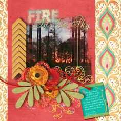 Fire in The Sky Kit: Boho Chic by Designs By Veronica http://www.plaindigitalwrapper.com/shoppe/product.php?productid=11099&cat=&page=1 Fonts: Firestarter, Dancing Script and Eutermia 1