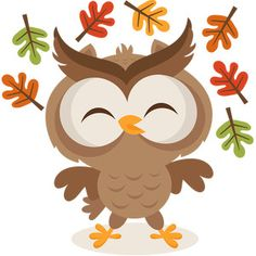 Silhouette Design Store - View Design fall owl playing in leaves Owl Png, Fall Owl, Pumpkin Images, Fall Clip Art, Owl Classroom, Cute Clipart, Silhouette Design, Silhouette Cameo, Funny Design