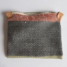 Image of Handwoven Zipper Pouch - Medium - No.2