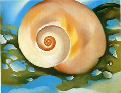 Georgia O'Keeffe--Pink Shell with Seaweed