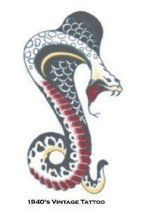 Tattoo Vintage Cobra 1940 by Morris Costumes. $2.20. First of their kind. Looks real. Easy to apply. Temporary Tattoo. So realistic your friends will think its real.. Save 44%! Toys amp; Games  Temporary Tattoos | tattoos picture realistic temporary tattoos