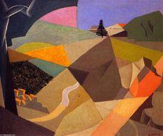 'le carrière', huile sur toile de Andre Lhote (1885-1962, France)