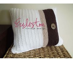 (PDF PATTERN) Ribbed Cushion Cover. FREE PDF 2/15