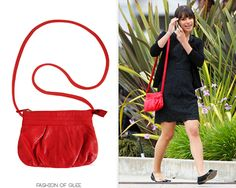 H Red Crossbody Bag - $19.99 (EBAY)  Worn with: J. Crew dress  Also worn in: 1x03 'Acafellas', 1x21 'Funk' with Forever 21 cardigan