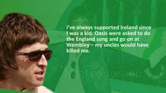 Noel Gallagher on Celtic FC Ireland and Irishness