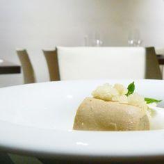 Nuevo plato en picoteo de Vicio: Rulo de helado de té con granizado de pera y sorbete de limón