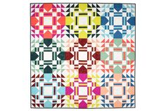 Everglow Quilt   A Pattern - Patchwork and Poodles Saturated Color, Fabric Patterns, Poodle, Quilts, Scrappy Quilts, Quilt Sets, Poodles, Log Cabin Quilts, Quilting