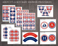 free nautical baby shower printables - Google Search