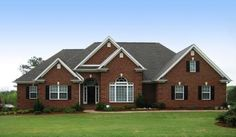 Traditional Brick Ranch - 2310 Square Feet and 4 Bedrooms w/Lots of Walk-Ins fro. - House Plans, Home Plan Designs, Floor Plans and Blueprints House Plans One Story, One Story Homes, Best House Plans, Story House, House Floor Plans, Brick Ranch House Plans, Brick Ranch Houses, American Style House, American Houses