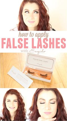 how to apply false lashes with esqido